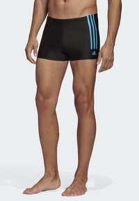 adidas Performance - FIT SEMI 3 STRIPES BOXER SWIM TRUNKS - Swimming trunks - black - 0