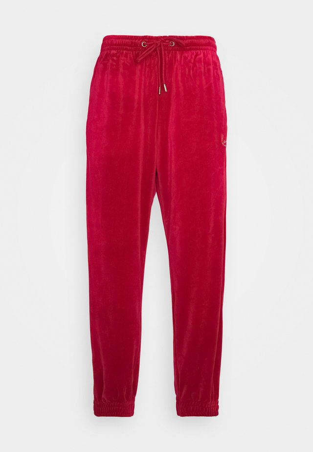 UNISEX SIGNATURE TRACK PANTS - Tracksuit bottoms - dark red