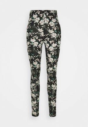 VIBE PRINT - Leggings - black/white/rose