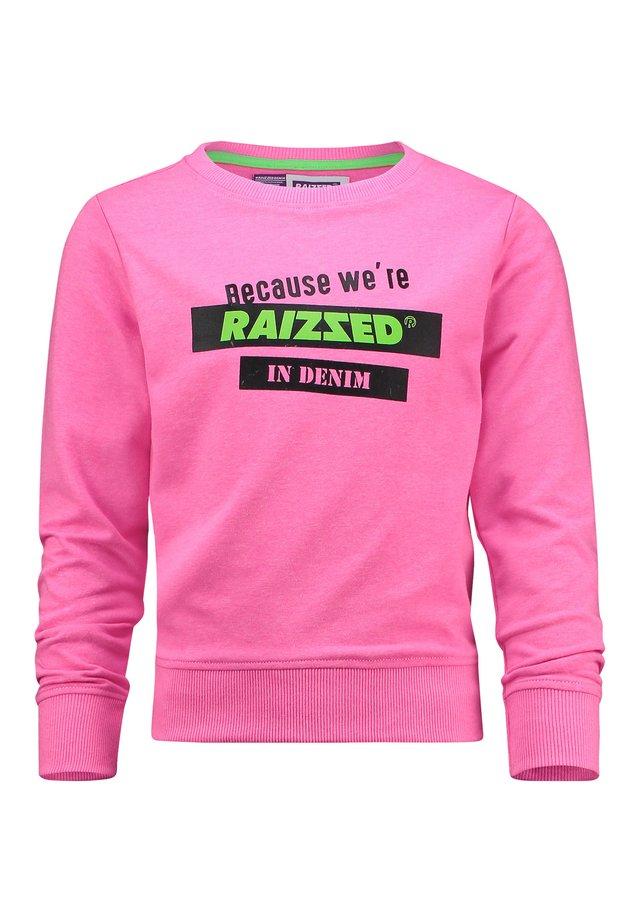 DAKOTA SPARKLE LIME - Sweatshirt - neon pink