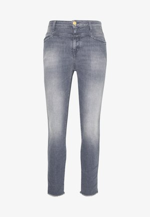 SKINNY PUSHER  HIGH WAIST CROPPED LENGTH - Skinny džíny - mid grey
