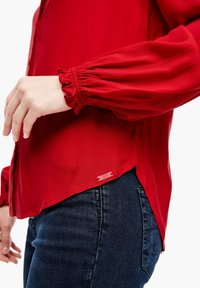 Q/S designed by - Button-down blouse - crimson red - 6
