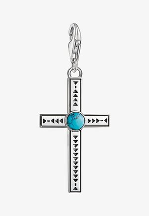 ETHNO KREUZ  - Pendant - silver/turquoise