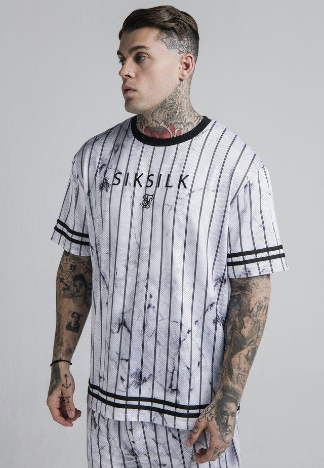 MARBLE ESSENTIAL TEE - T-shirt imprimé - white/grey