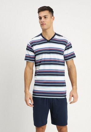 SHORTY V-AUSSCHNITT - Pyjama set - dunkelblau