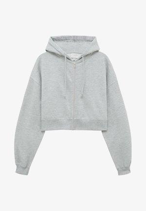 BASIC - Sweater met rits - mottled grey