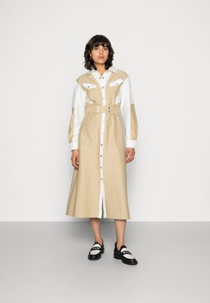 LONG BEFORE DRESS - Vestido camisero - tan contrast
