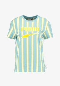 Puma - DOWNTOWN STRIPE TEE - Print T-shirt - milky blue - 3