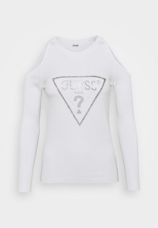 AURELIE CUT OUT - Sweter - true white