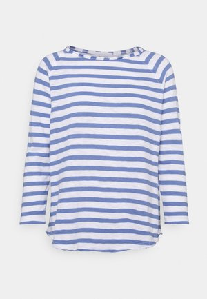 HEAVY STRIPED - Long sleeved top - sky blue