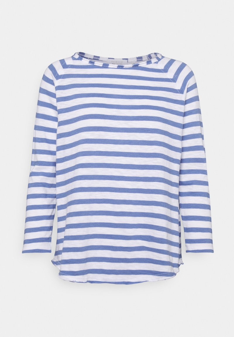 Rich & Royal - HEAVY STRIPED - Long sleeved top - sky blue