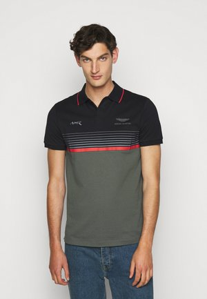 STRIPE BLOCK - Poloshirt - black/green