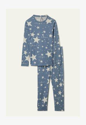 SET - Pyjama set - aufdruck  sky blue star print
