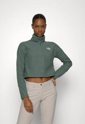 GLACIER CROPPED 1/4 ZIP - Fleece jumper - balsam green