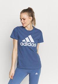 adidas Performance - T-shirt print - blue - 0