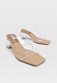 Stradivarius - High Heel Sandalette - nude - 2