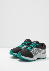 Salomon - SENSE CSWP - Hiking shoes - black/pearl blue/parasailing