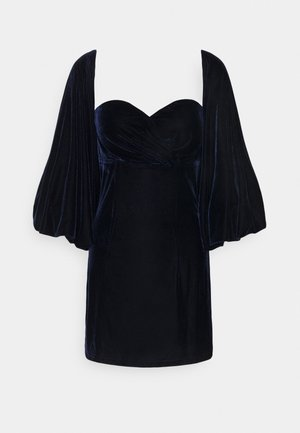 PUFF SLEEVE MINI DRESS - Robe d'été - navy