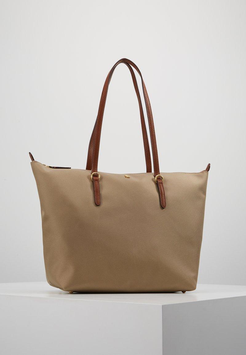 Lauren Ralph Lauren - KEATON TOTE-SMALL - Handbag - clay