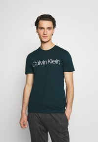 Calvin Klein - FRONT LOGO 2 PACK - T-shirt med print - green - 1