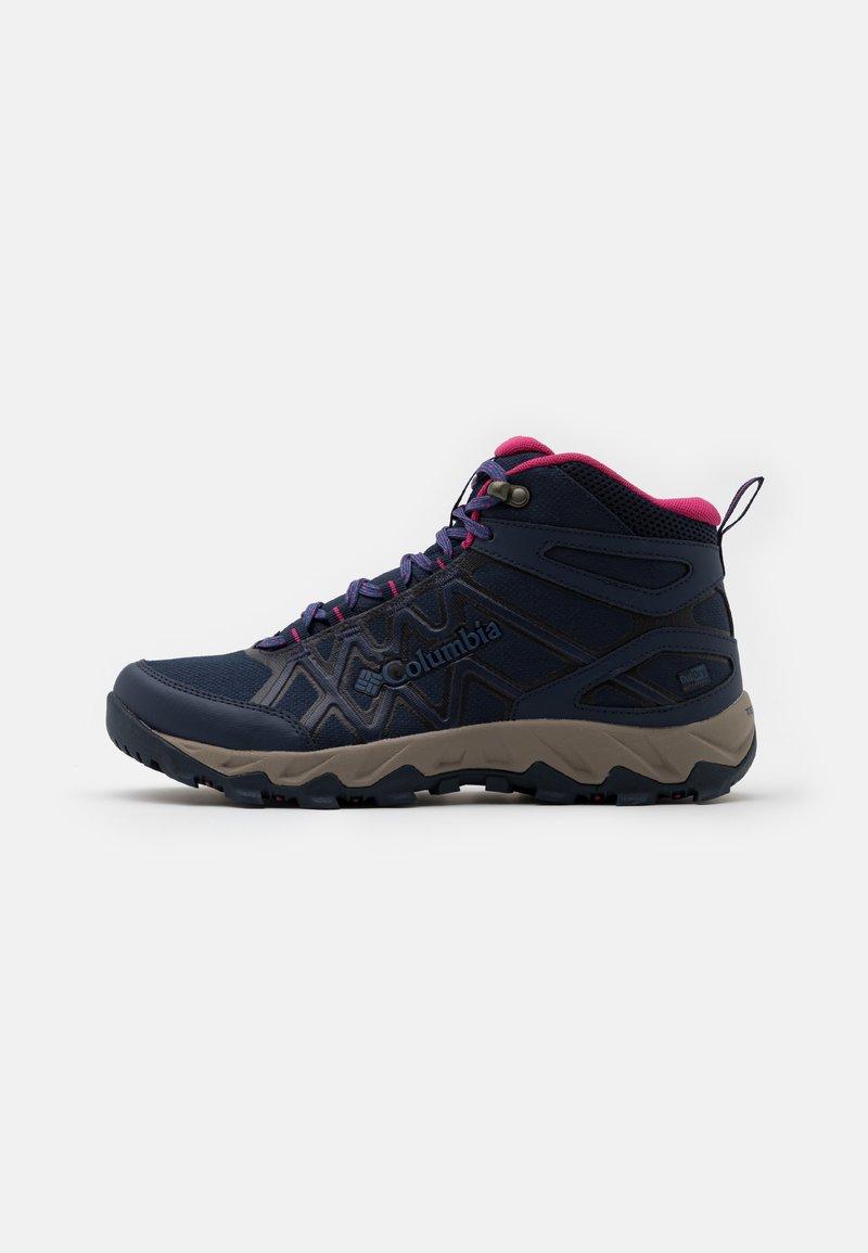 Columbia - PEAKFREAK X2 MID OUTDRY - Hiking shoes - collegiate navy/dark fuchsia
