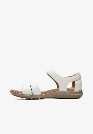 Walking sandals - white leather
