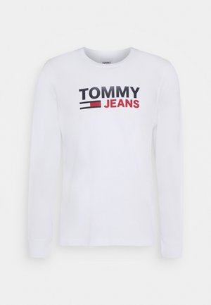 LONGSLEEVE LOGO UNISEX - Long sleeved top - white