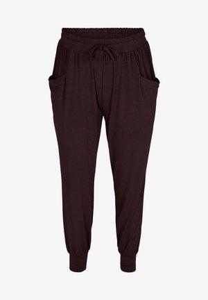 LOOSE WITH POCKETS - Teplákové kalhoty - brown