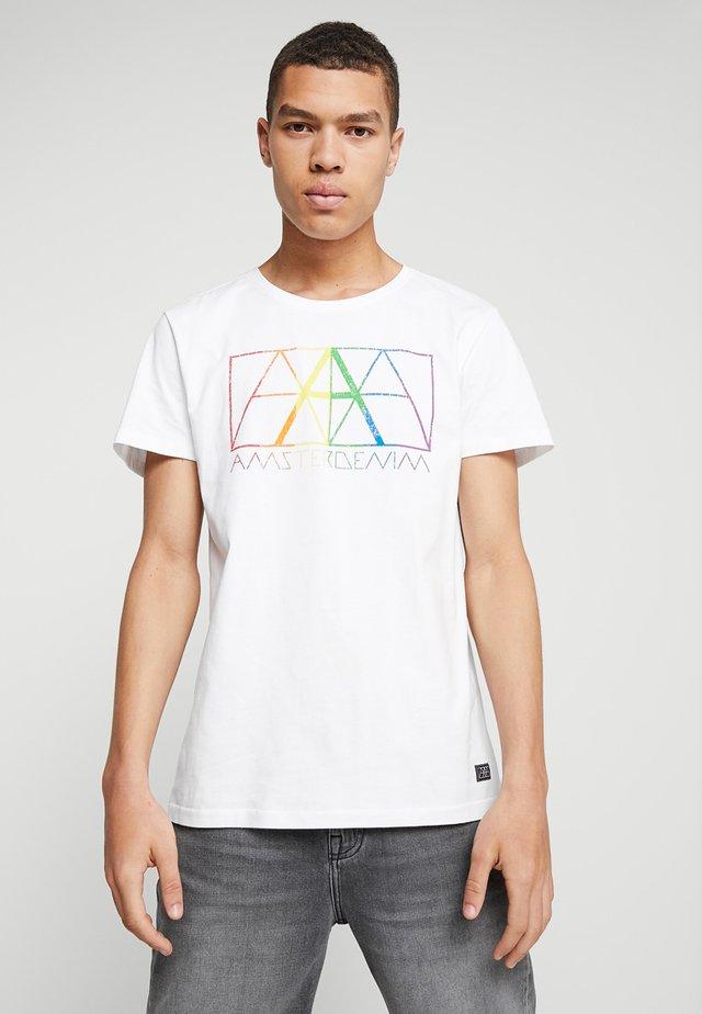 PRIDE - T-shirt con stampa - white