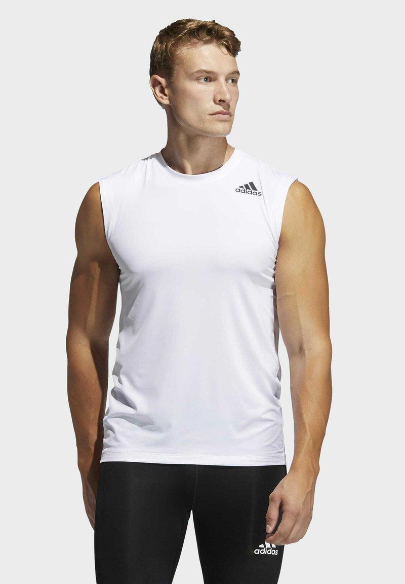 adidas Performance - SL TECHFIT AEROREADY PRIMEGREEN SPORTS SLEEVELESS T-SHIRT - Top - white