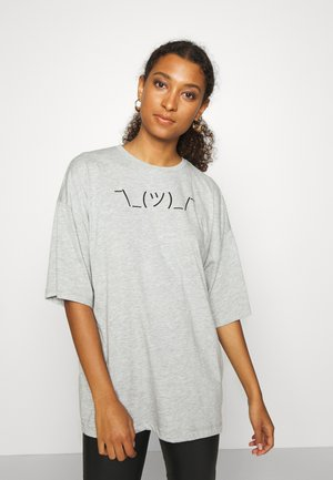 T-shirts med print - light grey