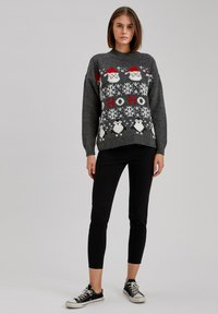DeFacto - CHRISTMAS JUMPER - Jumper - anthracite - 1