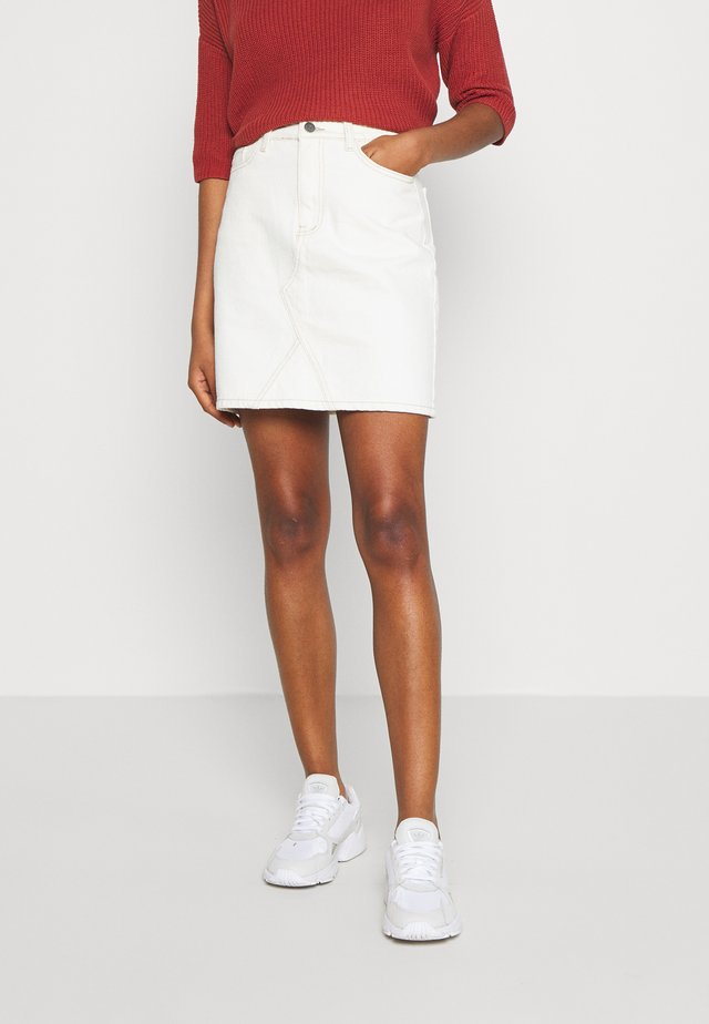 GLORIA TWILL - Mini skirt - sandshell