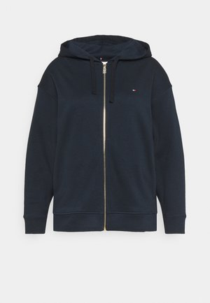 OVERSIZED ZIP THROUGH HOODIE - Sudadera con cremallera - desert sky