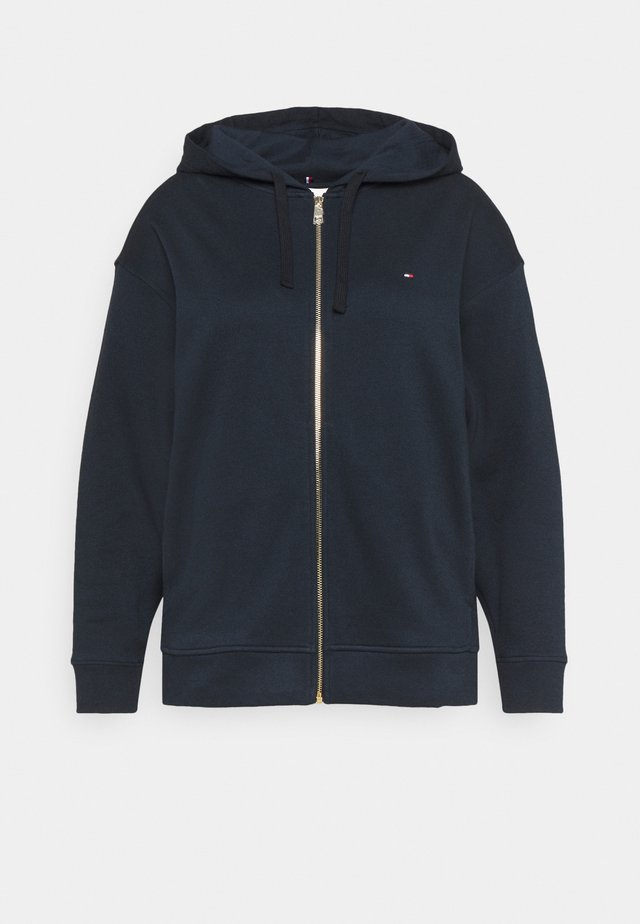 OVERSIZED ZIP THROUGH HOODIE - Felpa aperta - desert sky