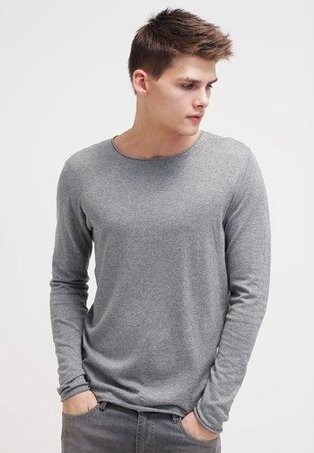 SLHDOME CREW NECK - Stickad tröja - medium grey melange