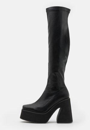 VEGAN - Boots med høye hæler - black