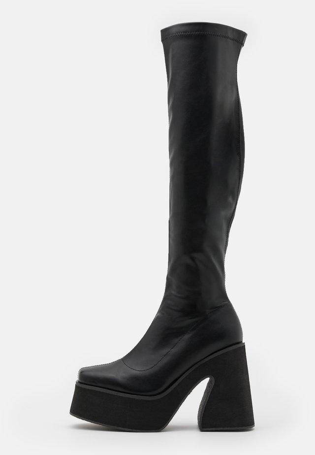 VEGAN - High Heel Stiefel - black