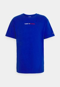 Tommy Jeans - LINEAR LOGO TEE - T-shirt med print - blue - 0