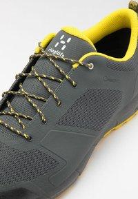 Haglöfs - L.I.M LOW PROOF ECO - Hiking shoes - magnetite/signal yellow - 5
