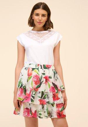 BLUMEN - Pleated skirt - multicolor
