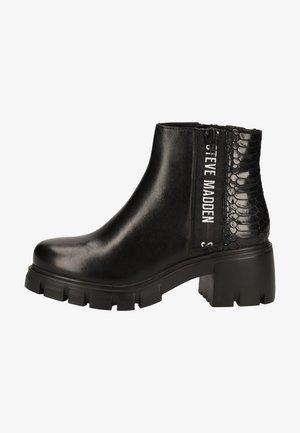 Platform ankle boots - black snake 967