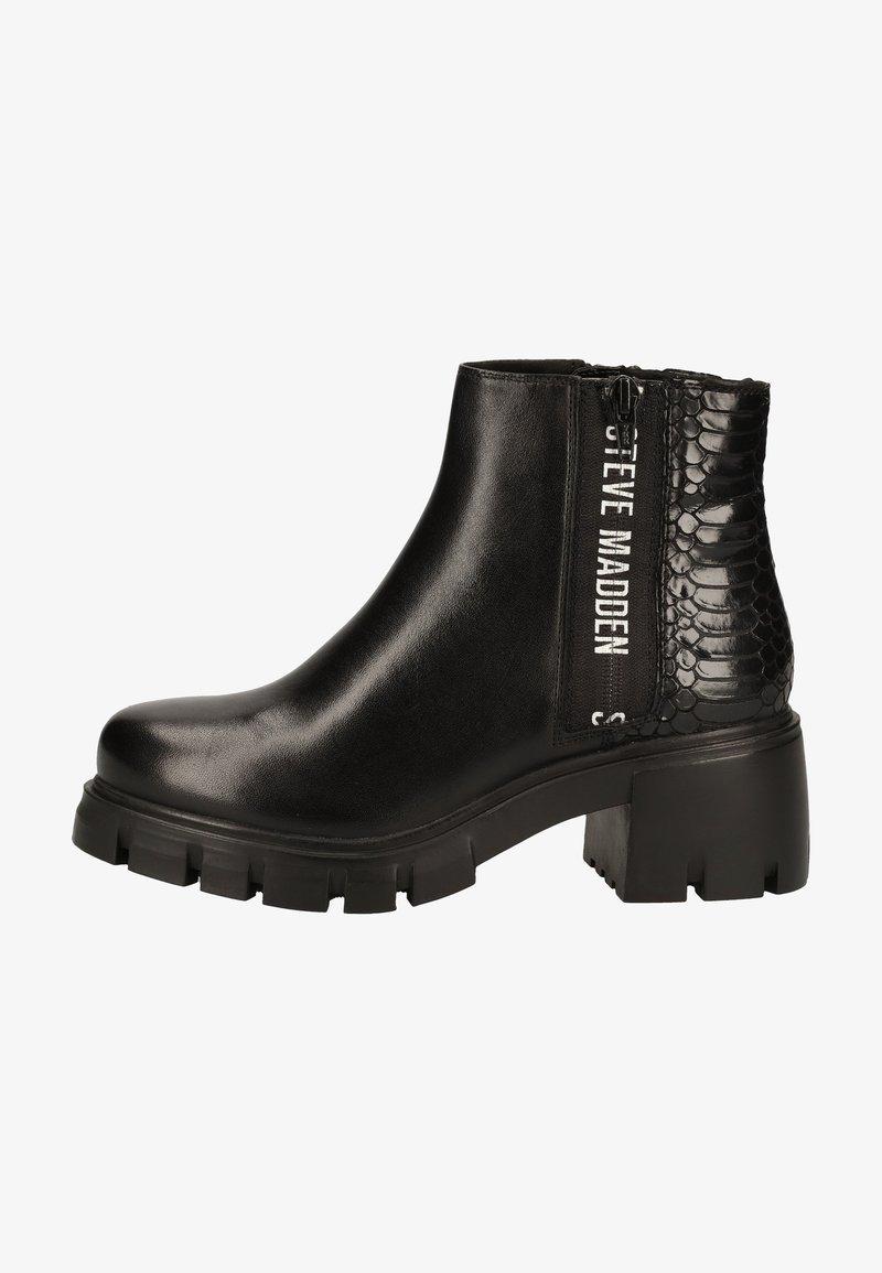Steve Madden - Platform ankle boots - black snake 967