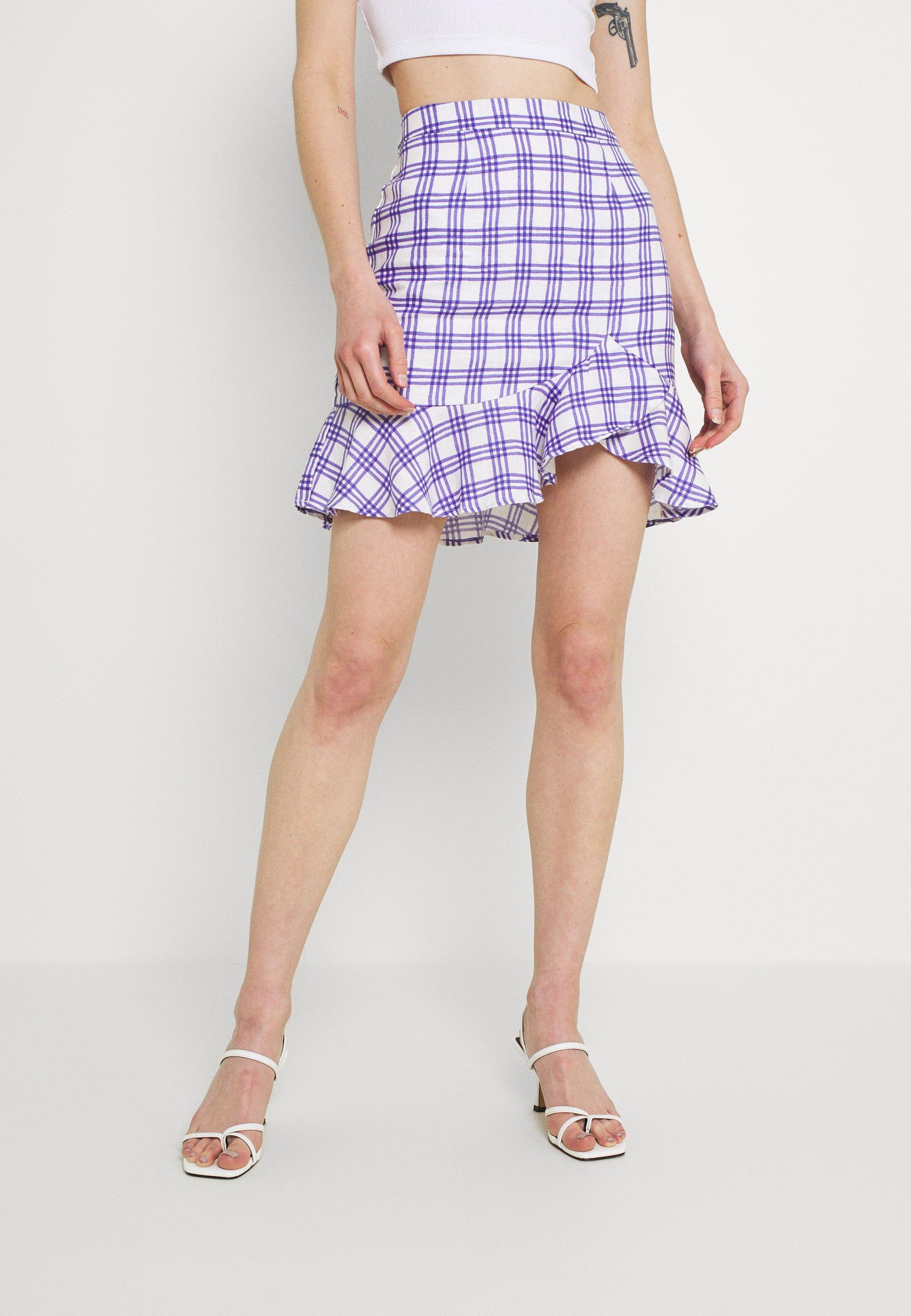Femme BOTTOM FLOUNCE MINI SKIRT - Minijupe