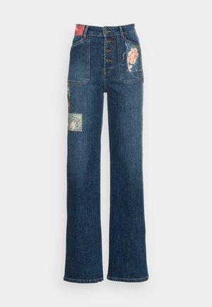 DENIM PATCH - Flared jeans - blue