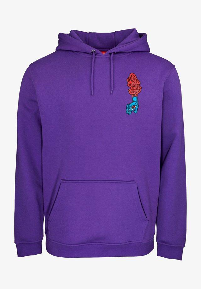 SCREAMING HAND SCREAM - Felpa con cappuccio - purple