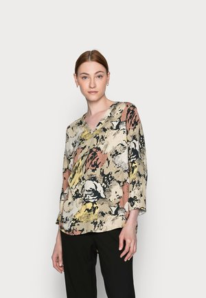 OBJSTINE BAY 3/4 TALL - Long sleeved top - sandshell/abstract