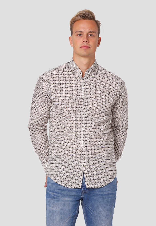 MINNESOTA LS - STRIPE/CHECK - Overhemd - off white