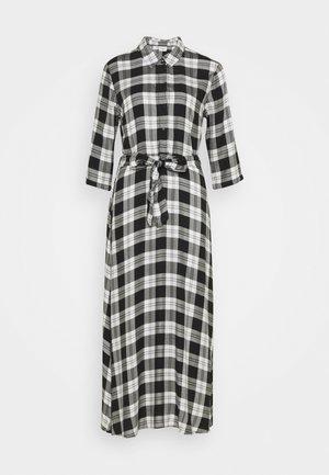 JDYSTAY MIDCALF DRESS - Shirt dress - black/white