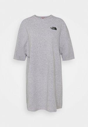 TEE DRESS - Žerzejové šaty - light grey heather